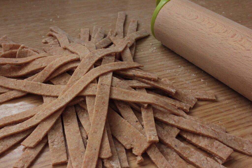 tallarines de espelta
