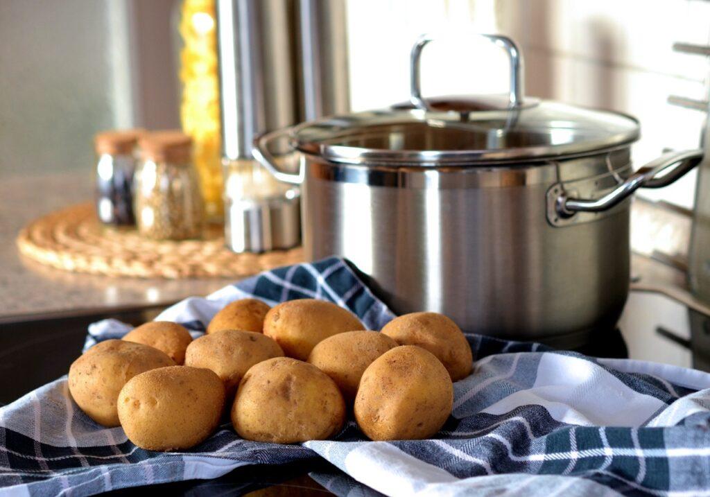 pure de patatas y manzana