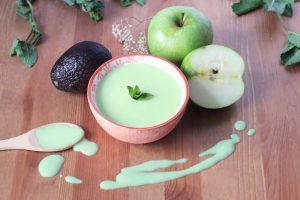 crema aguacate y manzana