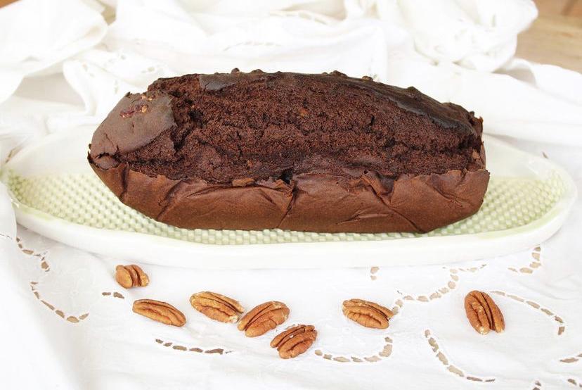 bizcocho de cacao y pecanas